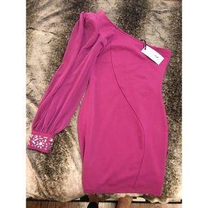 NWT ASOS Pink One Shoulder Mini Dress Size 4